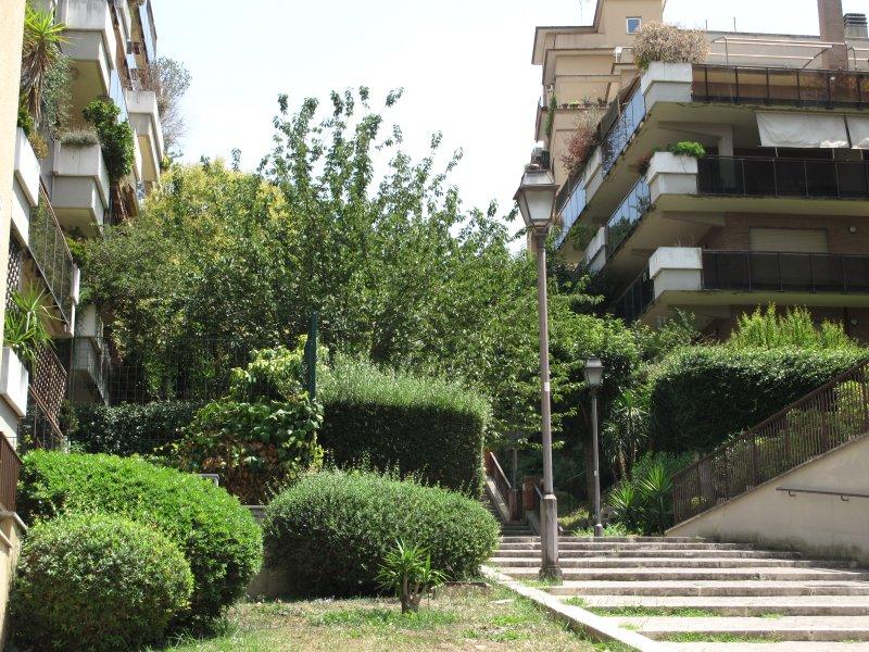 Typical Roman staircase near Via di Monte del Gallo