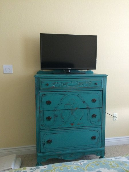 Dresser and TV in the bedroom
