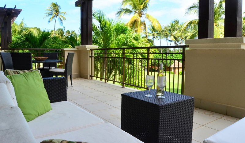Relax and have some wine while enjoying the views from your private terrace.