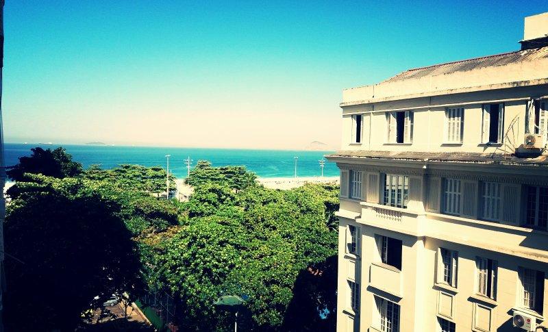 Vista para a praia de Copacabana.