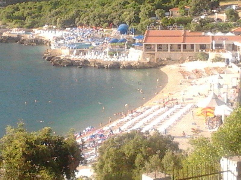 Blue flag beach Utjeha Montenegro Europe Mediterranean