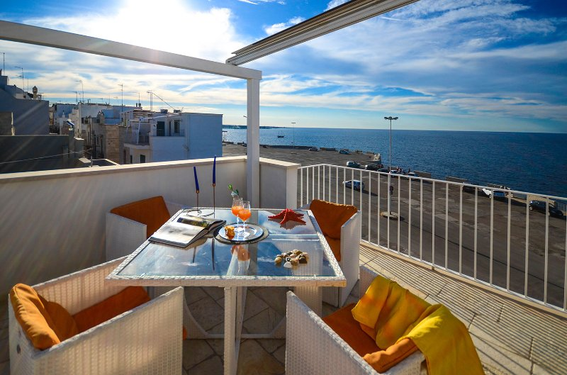 Casa Ardito - house with enchanting terrace front sea view, Ferienwohnung in Polignano a Mare