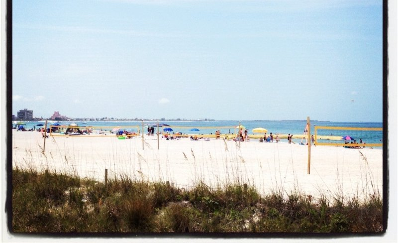 St Pete Beach and the Gulf of Mexico is just over a block away from your front door!