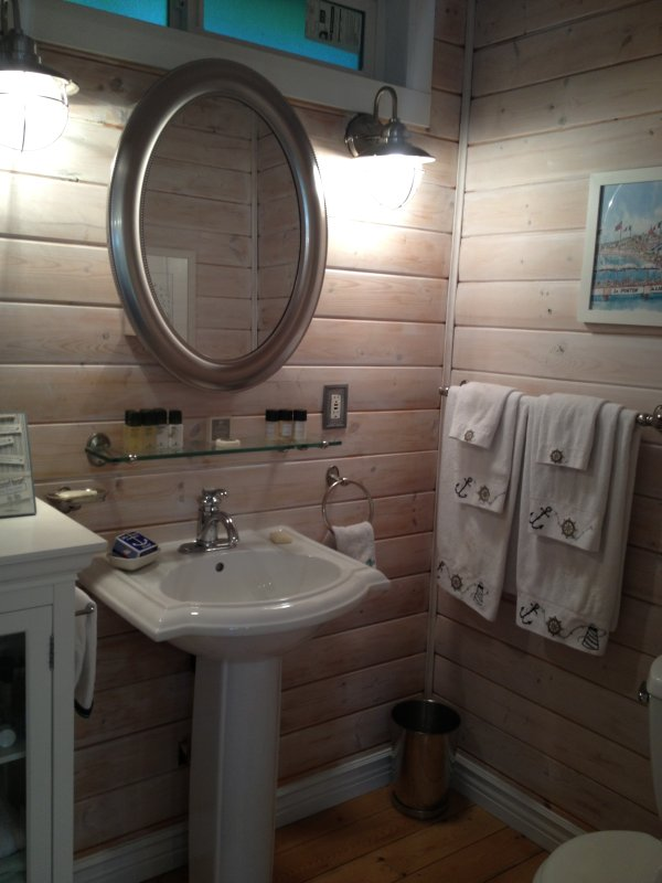 Coastal Cottage bathroom with shower! Great size!