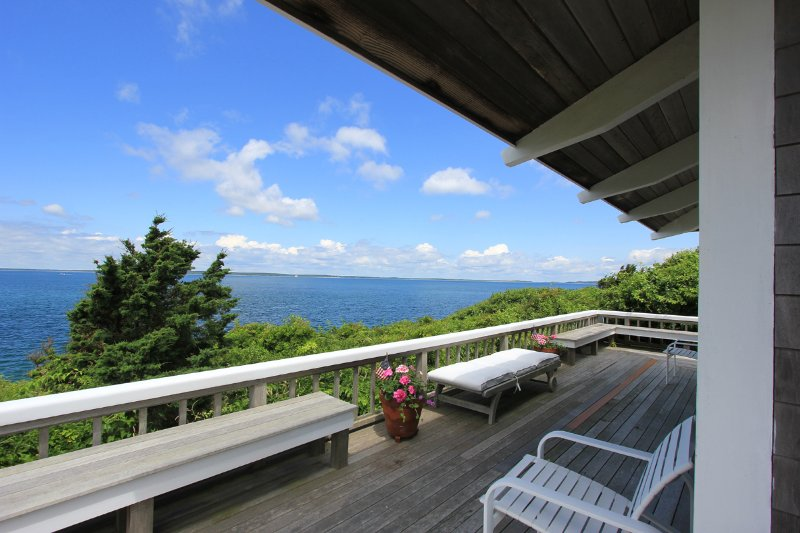 Waterfront Side of House and Deck with Panoramic Views