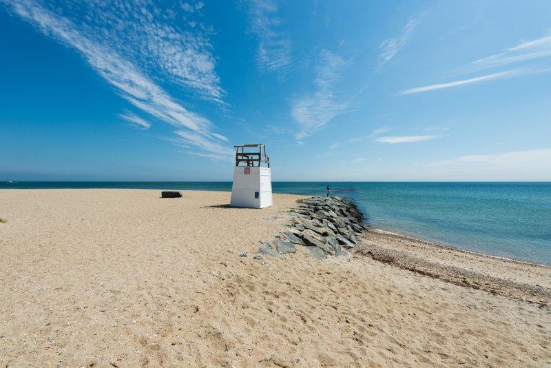 Oak Bluffs town beach, also known as Inkwell Beach.