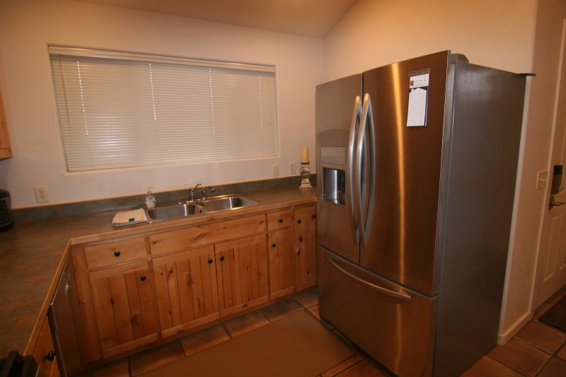 New side by side Stainless steel French door Fridge