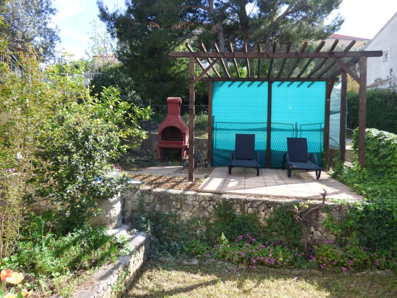 Grill and Sunlounger area