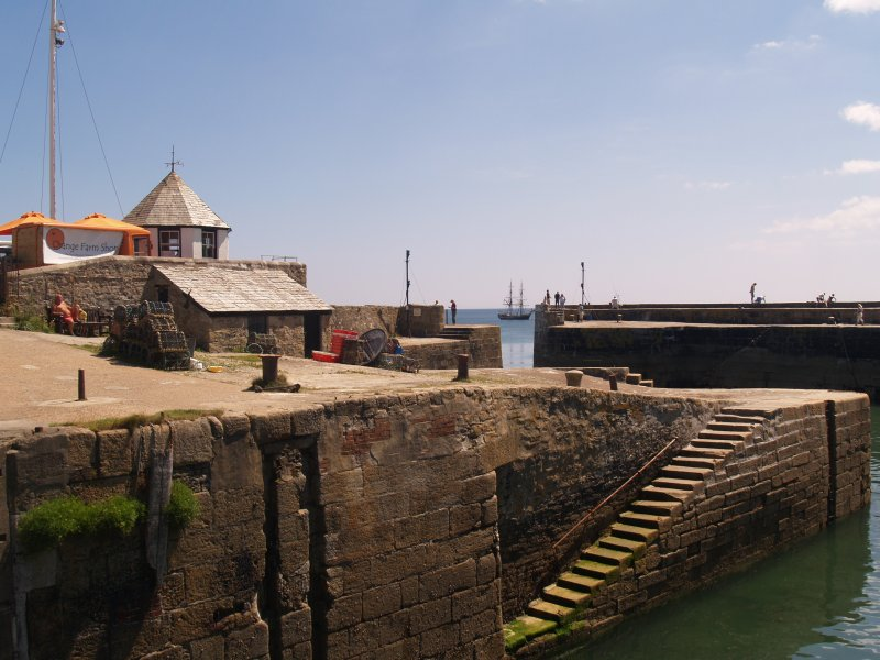 The picturesque harbour of Charlestown