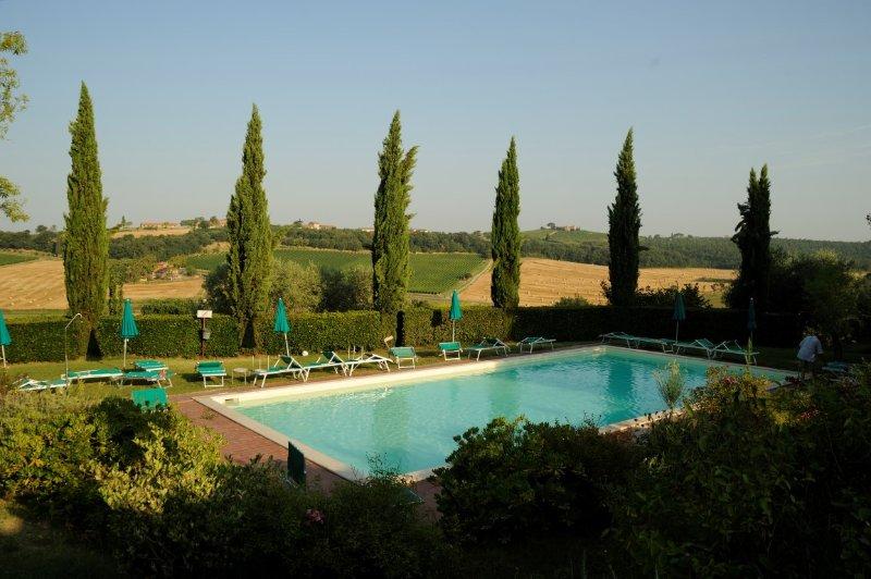 Beautiful apartment with pool in Montepulciano, alquiler de vacaciones en Valiano