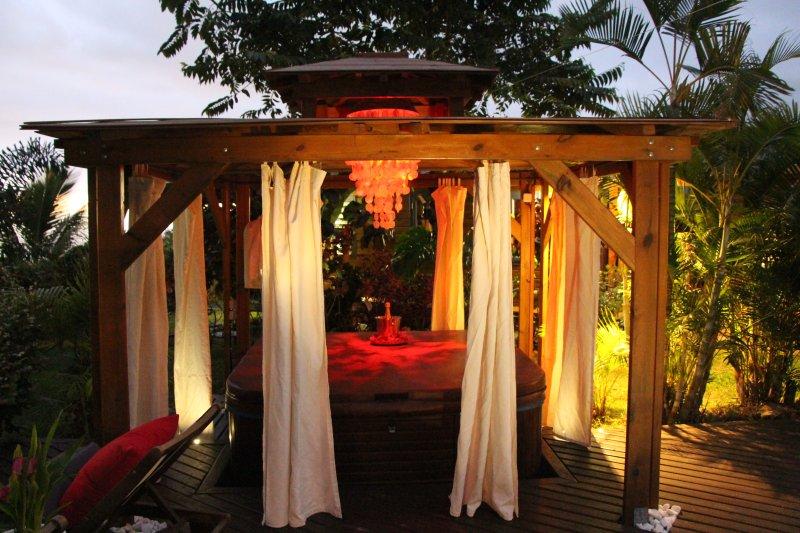 kiosque balinais du lodge 'Ylang Ylang'