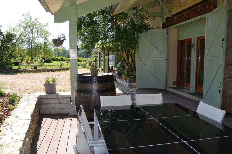 Terrasse couverte commune