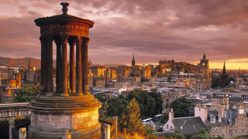 Stewart Monument Edinburgh from Calton Hill