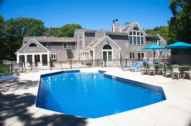 View of the Back of House-Extra large inground heated pool. Private, quiet and Luxurious setting