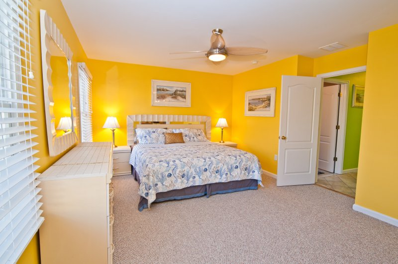 Beautifully Appointed Large Master Bedroom with King Bed and Smart HDTV!