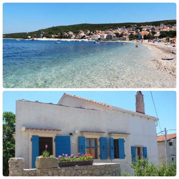 New apartment on car free island Unije 49, casa vacanza a Unije