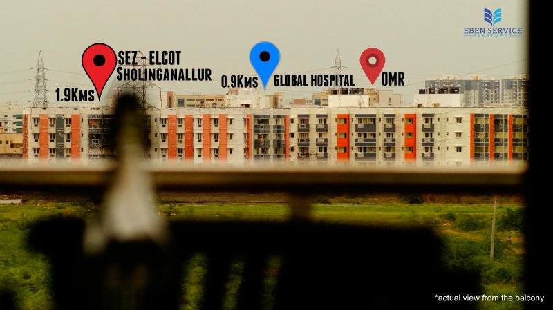 We are close to Global hospital and Sholinganallur SEZ