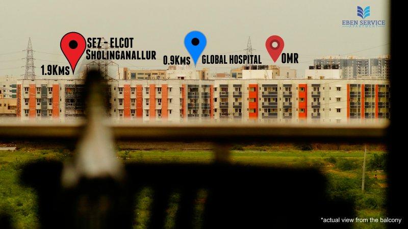 2BHK Service Apartment Near Global Hospital Perumbakkam, vacation rental in Muttukadu