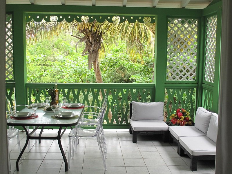 terrace overlooking the natural reserve