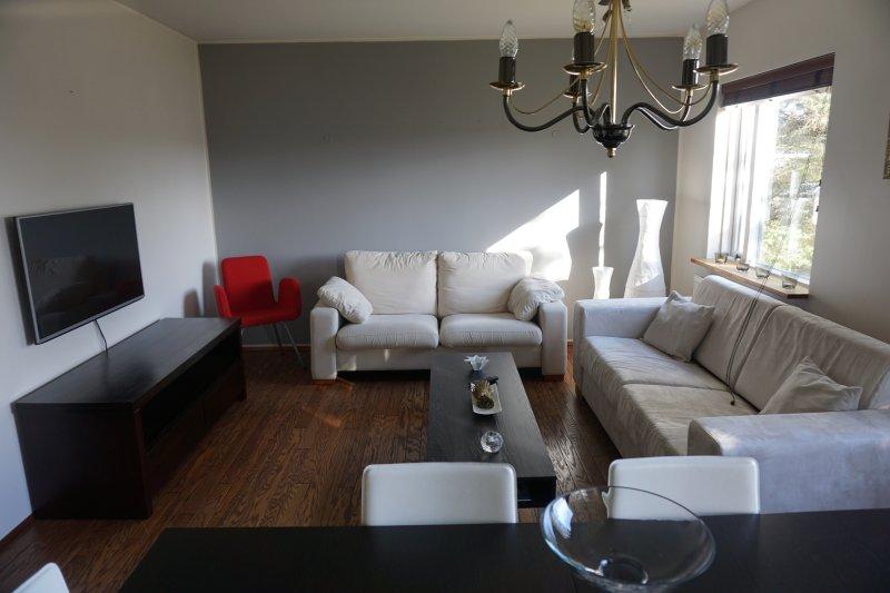 Modern apartment in great location, location de vacances à Mosfellsbaer