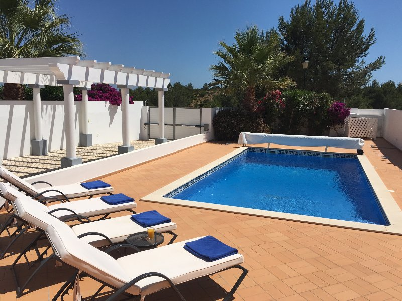 Private heated swimming pool and secure parking area