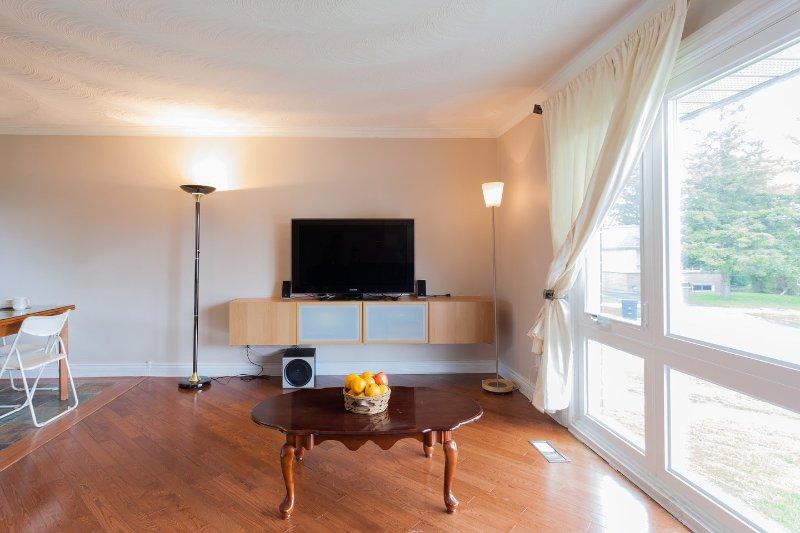"""Sala de estar con 46 """"televisión de alta definición"""