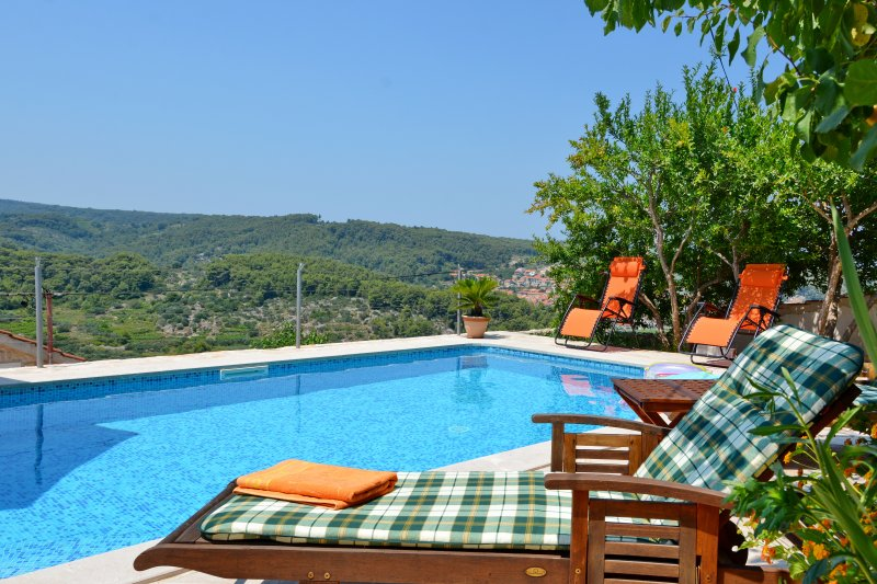 Mediterranean Stone House Villa with Pool in the Heart of the Island, holiday rental in Jelsa