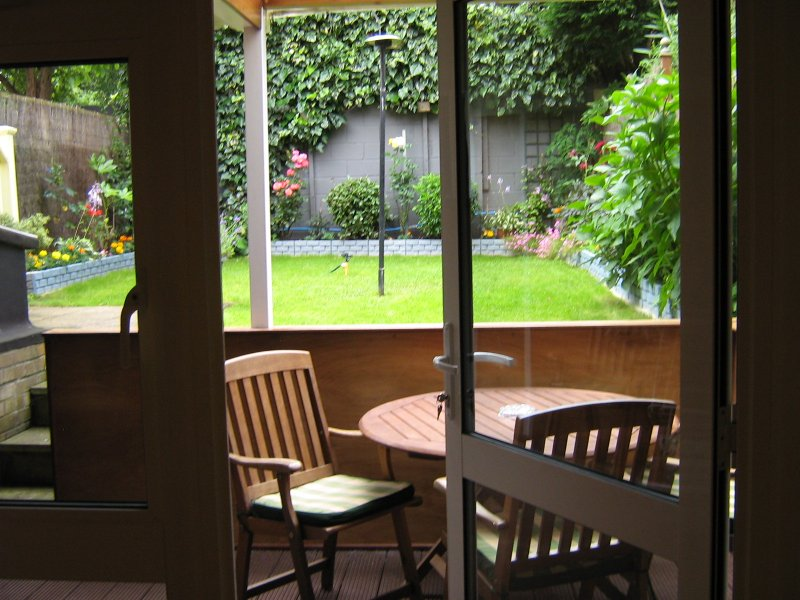 Patio with garden view
