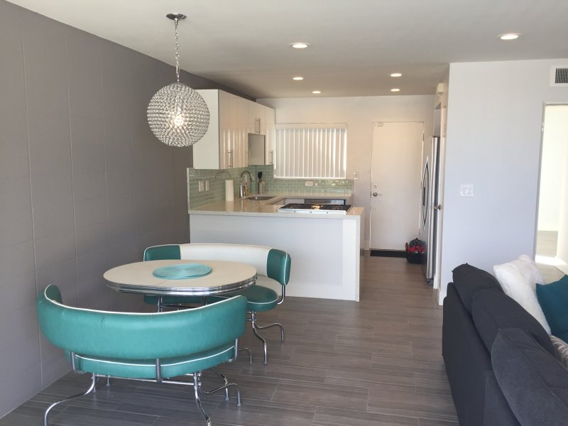 Trendy mid century newly remodeled