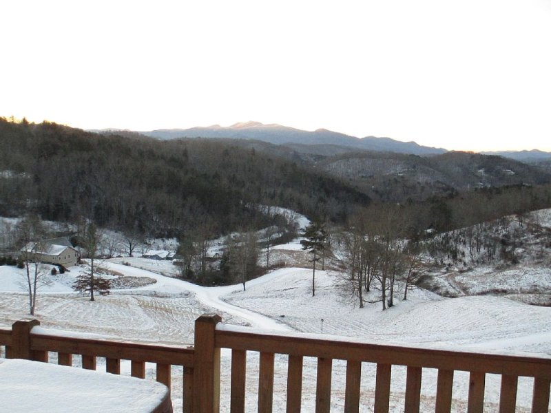 It does snow at Blessing Ridge...with skiing and tubing available 30-45' away!