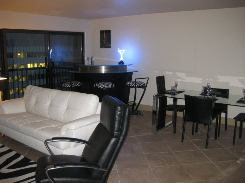 Martini bar and dining area