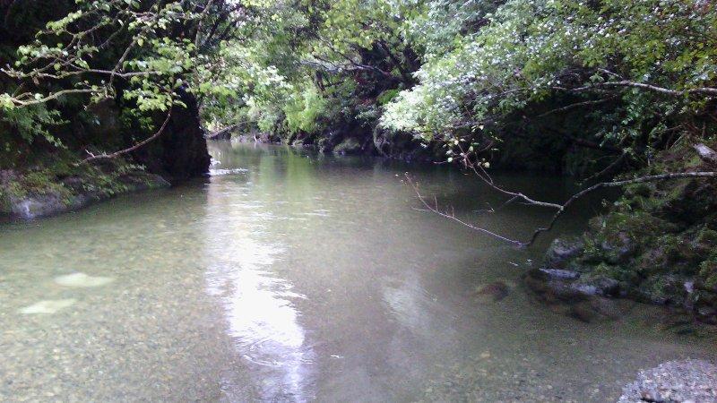 Der Fluss ... mit Badestellen