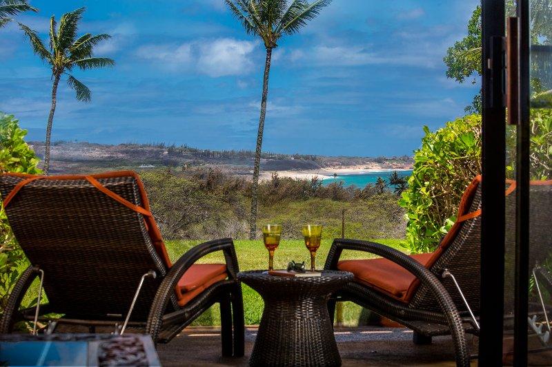 Views of Papohaku Beach from our lanai