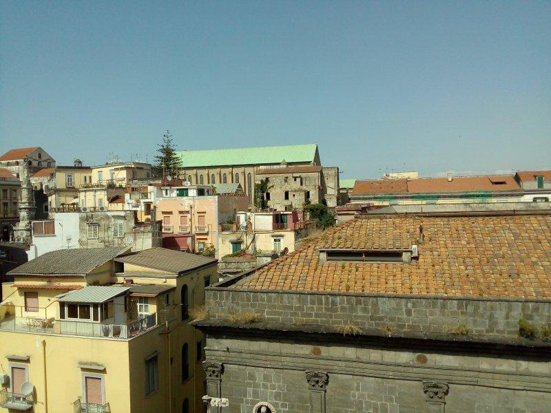 View of Santa Chiara from the balcony.