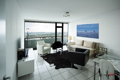 Living room with air conditioning and views of the Ruhr