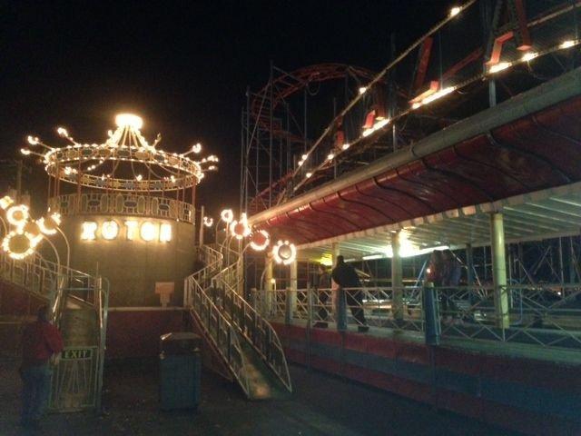 Scene from Sylvan Beach Amusement Park at Night