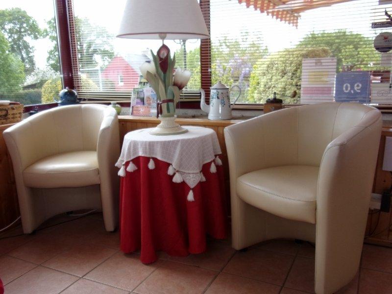 The lounge on the veranda.