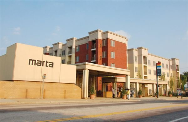 the Ashby Marta station located directly behind the condominiums