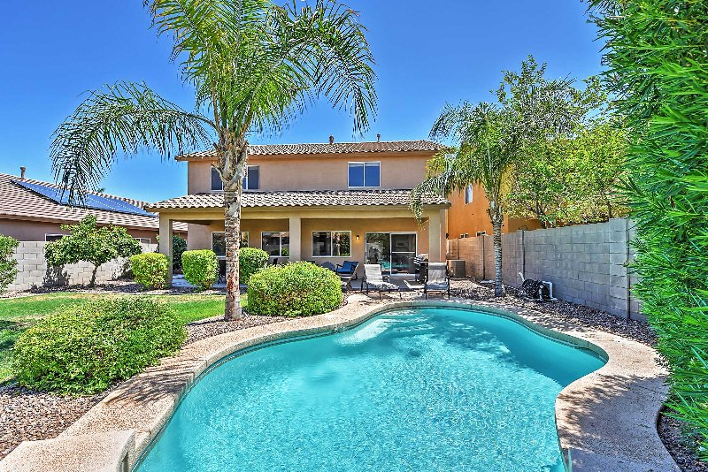 Your desert escape awaits in this outstanding Goodyear vacation rental house!