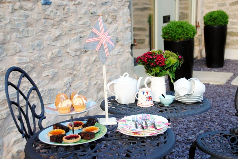Afternoon tea on the patio