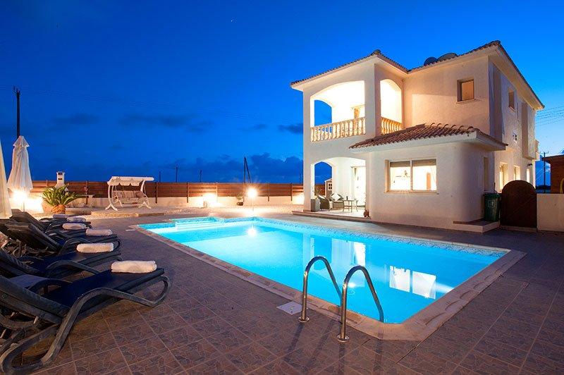 Super villa at night