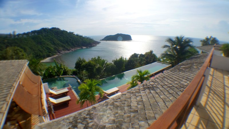 Lord Jim Retreat Koh Phangan: Vue sur la mer - Haad Thong Lang Bay et Koh Ma - Piscine privée Location Villa