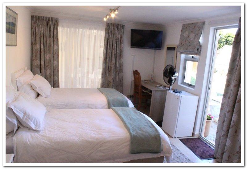 Kamer 1 met 2 eenpersoonsbedden
