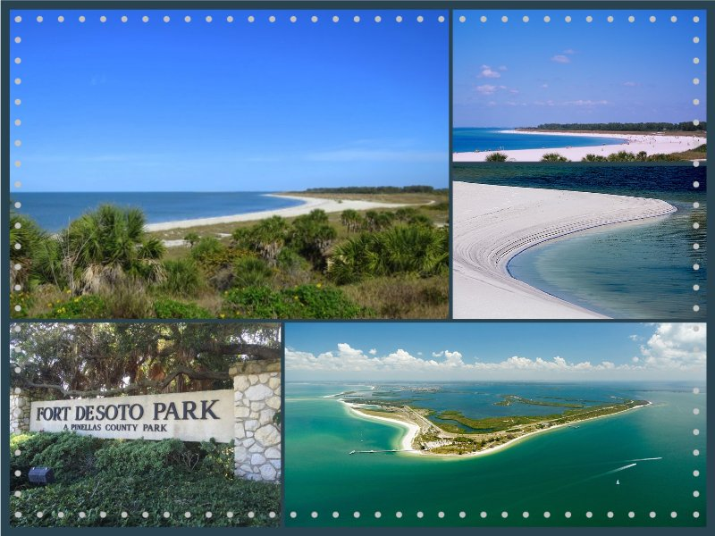 Soft sand, emerald waters and shady pines await you at Fort De Soto park- St. Petersburg.
