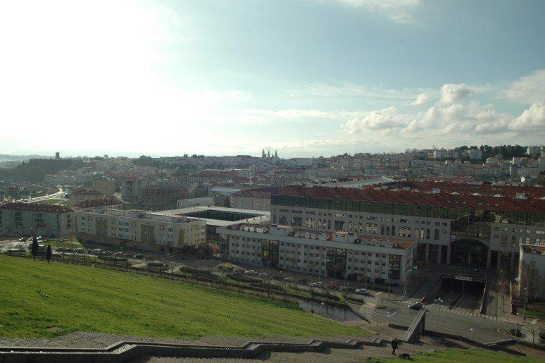 Fontiña urbanization and views over the city of Santiago de Compostela