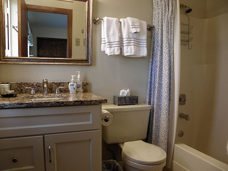 The bathroom off the master bedroom