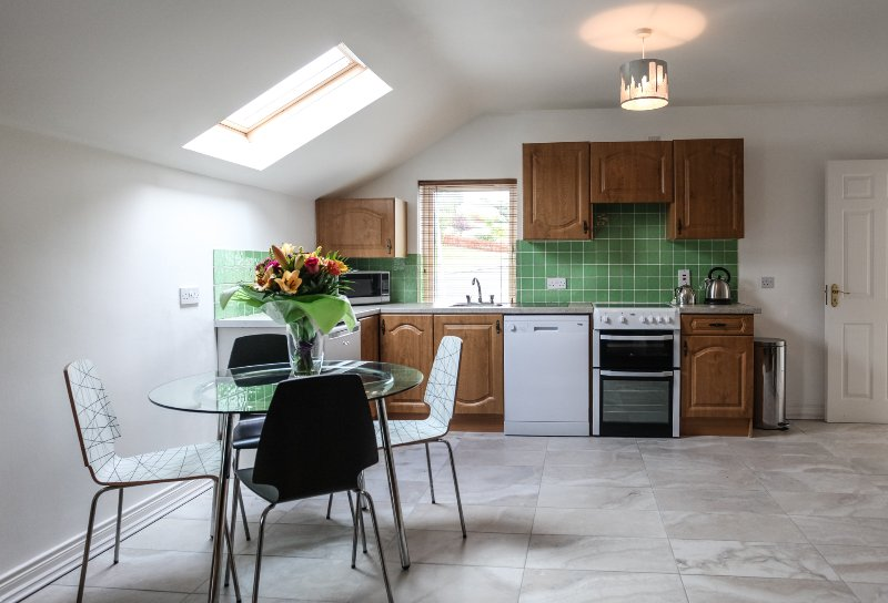 Fully equipped Kitchen to include dishwasher & Dining Area seats 4