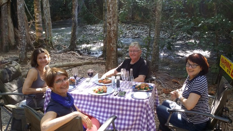 Fine dining on our 4WD Guided Tours