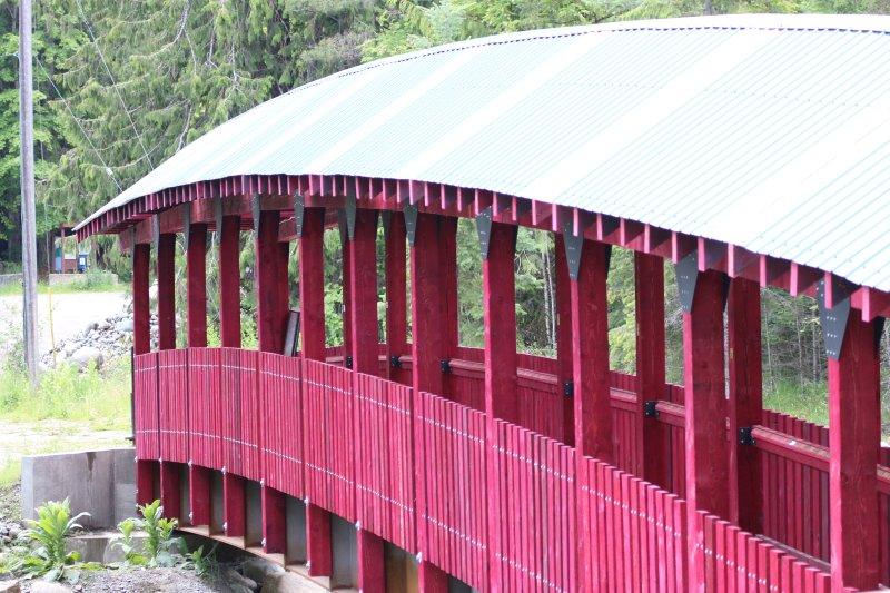 Kaslo River Trail pont en bas