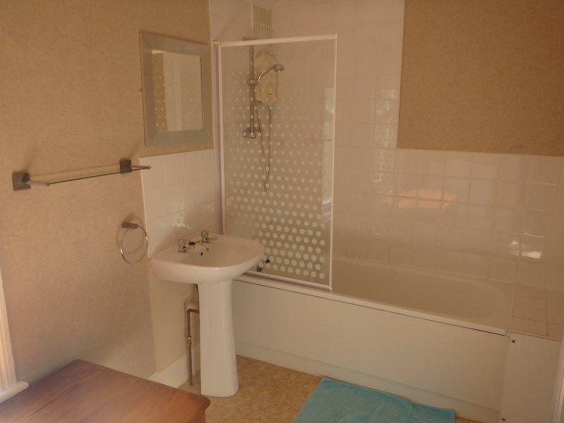 Large bathroom with shower. Separate toilet room